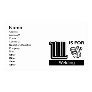 W Is For Welding Business Cards