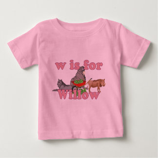 W is for Willow Baby T-Shirt