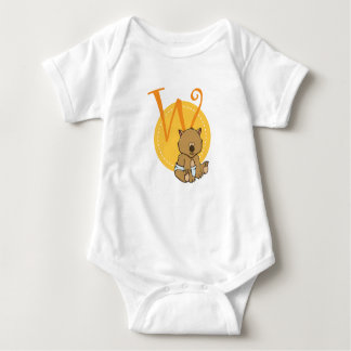 W is for Wombat Baby Bodysuit