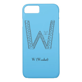 W is for wombat iPhone 7 case
