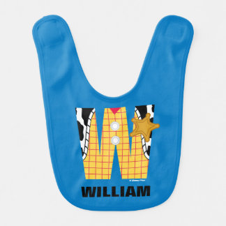 W is for Woody | Add Your Name Baby Bib