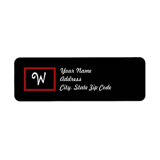 W : Letter W Blackboard Address Labels