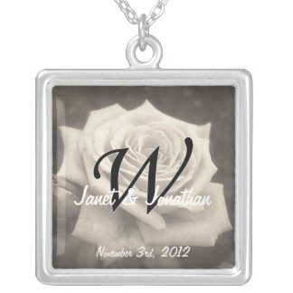 W Monogram Name Date Necklace Lighter