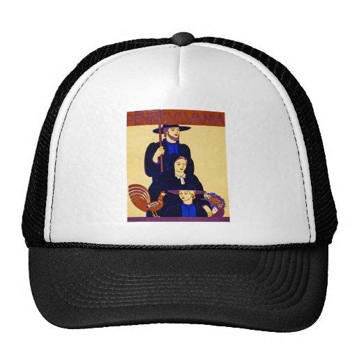 W.P.A. Pennsylvania Travel Poster Vintage Mesh Hat