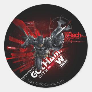 W-Tech Red Batman Graphic Round Sticker