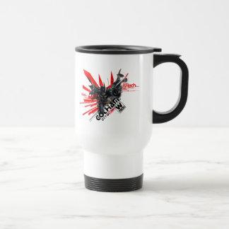 W-Tech Red Batman Graphic Travel Mug