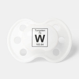 W - Tungsten Baby Pacifiers