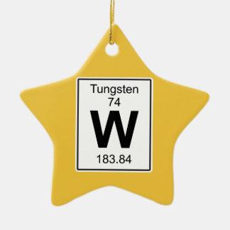 W - Tungsten Ceramic Ornament