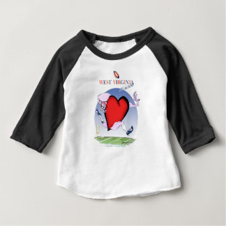 w virginia head heart, tony fernandes baby T-Shirt