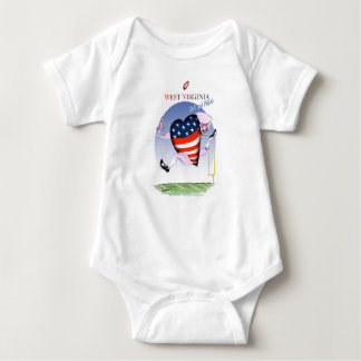 w virginia loud and proud,tony fernandes baby bodysuit