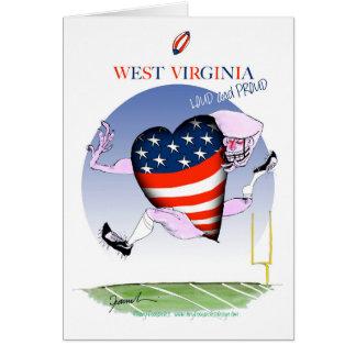 w virginia loud and proud,tony fernandes card