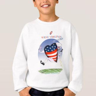 w virginia loud and proud,tony fernandes sweatshirt
