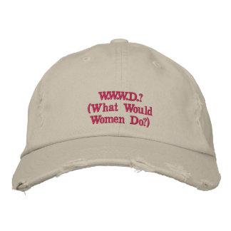 W.W.W.D.? Women's Distressed Baseball Cap