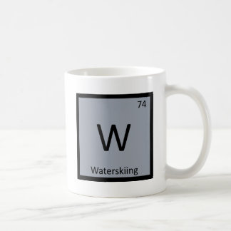 W - Waterskiing Sports Chemistry Periodic Table Coffee Mug