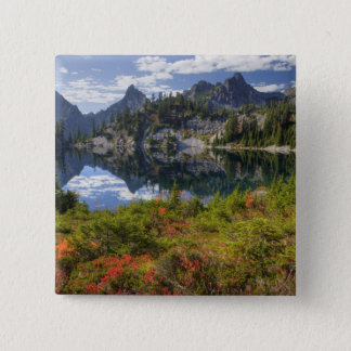 WA, Alpine Lakes Wilderness, Gem Lake, with 2 Inch Square Button