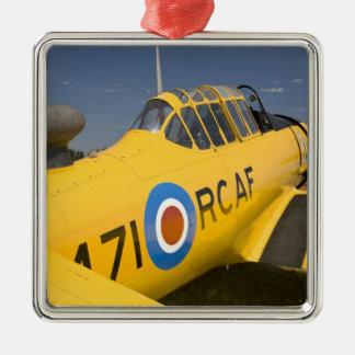 WA, Arlington, Arlington Fly-in, World War II Silver-Colored Square Ornament