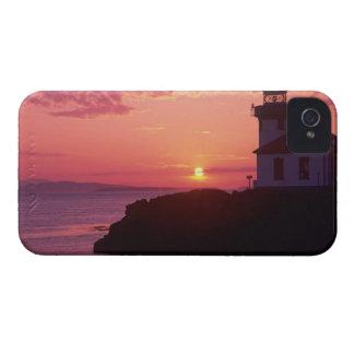 WA, île de San Juan, four à chaux Lighthouse, Coque Case-Mate iPhone 4