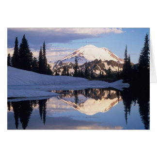 WA, Mt. Rainier NP, Mt. Rainier and clouds Card
