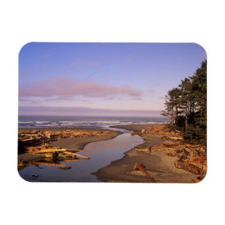 WA, Olympic NP, Kalaloch Beach and Kalaloch Rectangular Photo Magnet