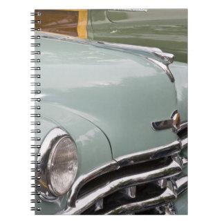 WA, Seattle, classic American automobile. 3 Note Book