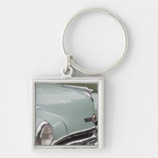 WA, Seattle, classic American automobile. 3 Silver-Colored Square Keychain