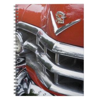 WA, Seattle, classic American automobile. 4 Spiral Note Book