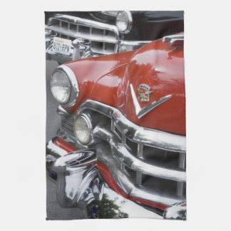 WA, Seattle, classic American automobile. Kitchen Towel