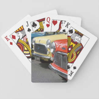 WA, Seattle, classic British automobile. Playing Cards