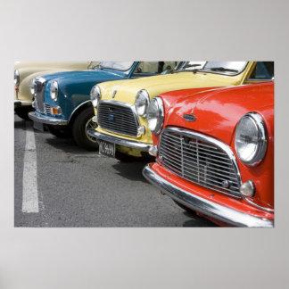 WA, Seattle, classic British automobile. Poster
