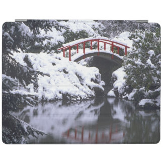 WA, Seattle, Moon bridge and pond after winter 2 iPad Cover
