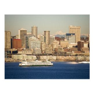 WA, Seattle, Seattle skyline and Elliott Bay Postcards
