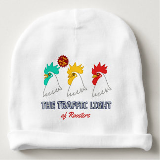 < wa taking signal > The traffic light of roosters Baby Beanie