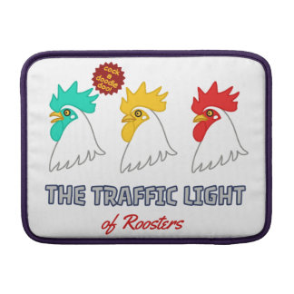 < wa taking signal > The traffic light of roosters MacBook Sleeve