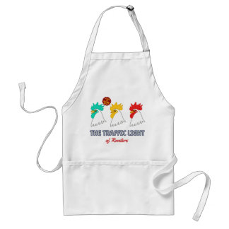< wa taking signal > The traffic light of roosters Standard Apron