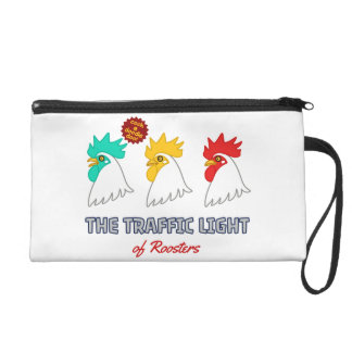 < wa taking signal > The traffic light of roosters Wristlet Purses
