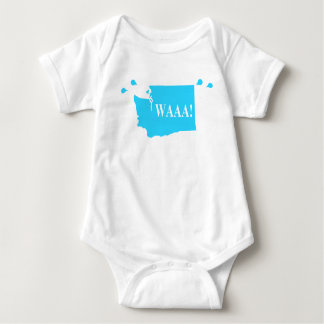 waAA! washington baby bodysuit aqua