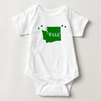 waAA! washington baby bodysuit green
