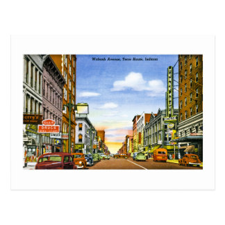 Wabash Ave., Terre Haute, Indiana Postcard