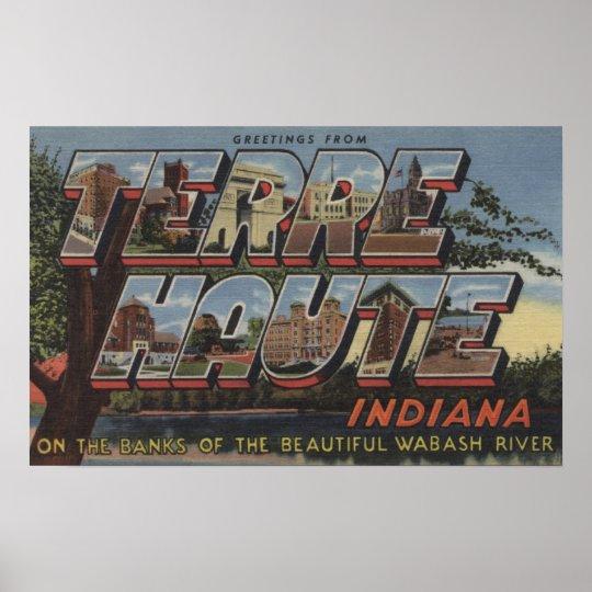 Wabash River - Large Letter Scenes Poster