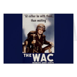 WAC Recruiting Poster Card