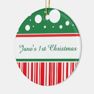 Wacky Christmas Ceramic Ornament