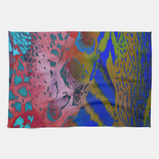 Wacky Colorful Animal Leopard Print Kitchen Towel
