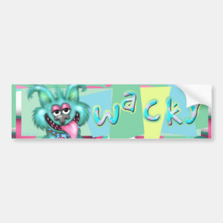 WACKY DOG ALIEN CARTOON Bumper Sticker