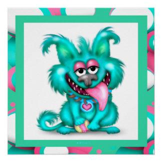 WACKY DOG fun CARTOON Perfect Poster