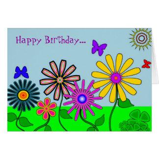 'Wacky Flowers' Card