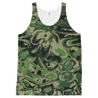 Wacky Green All-Over-Print Tank Top