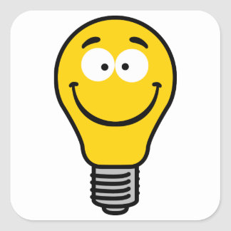 Wacky Lightbulb Square Sticker