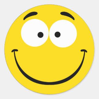 Wacky Smiley Round Sticker