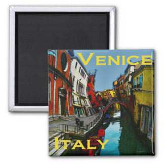 Wacky Travel Gifts - Venice Square Magnet