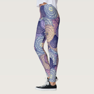 Wacky Zinnias Leggings